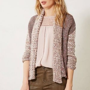 Anthropologie Moth Woodhouse Marled Open Cardigan